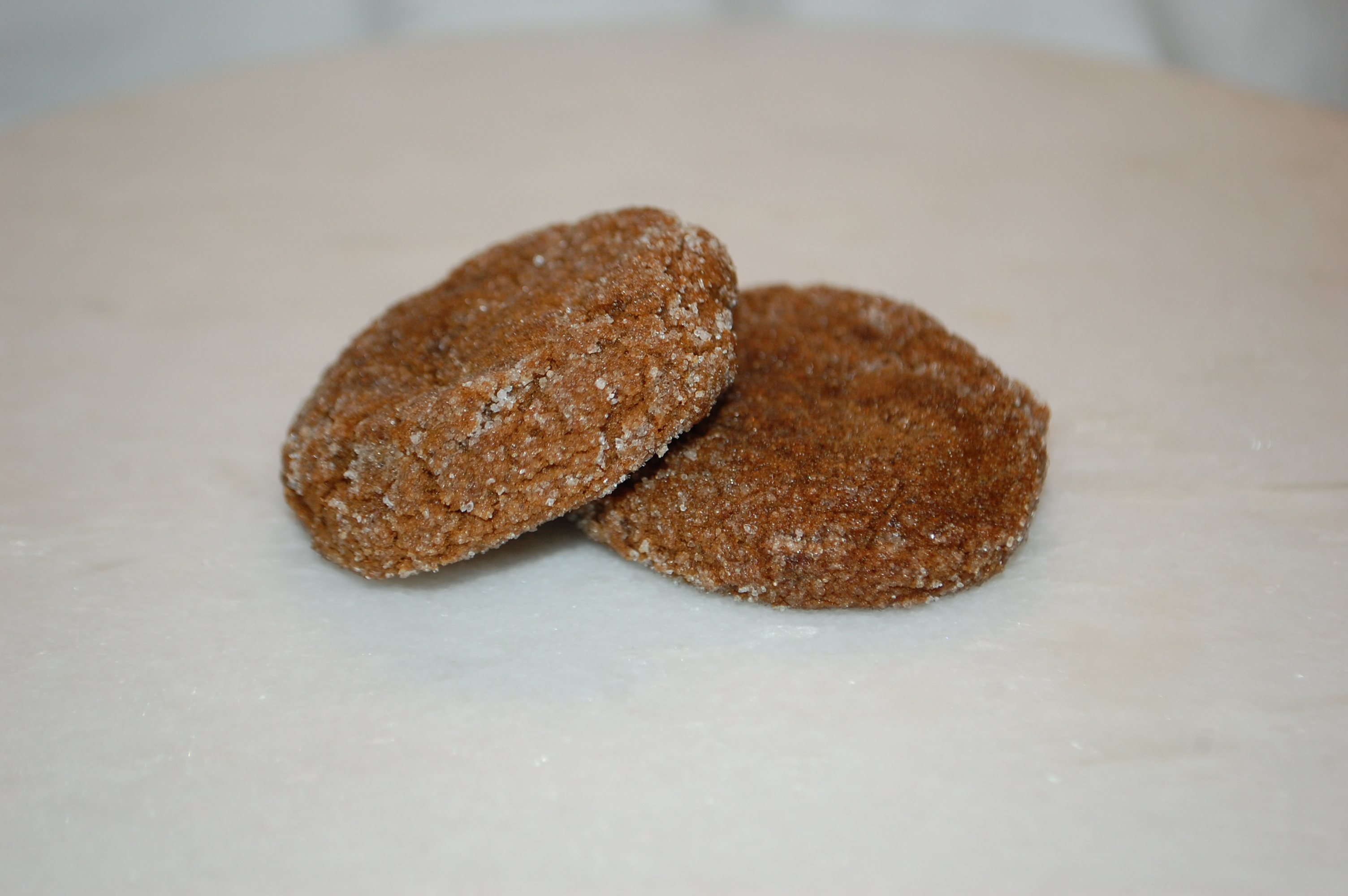 Classic ginger cookie made with molasses and bursting with ginger.